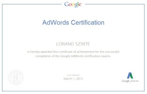 Google Adwords Vizsga