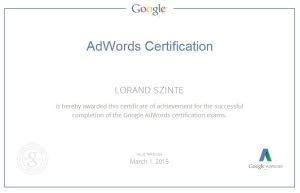 Google Adwords Vizsga
