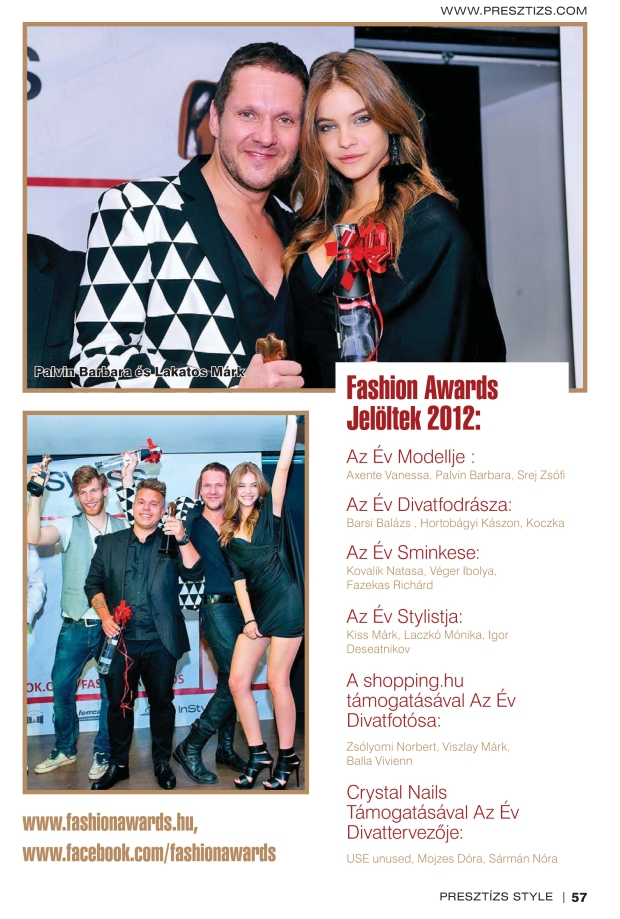 Fashion awards hungary 2012- presztizs style