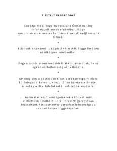 vegamenü pdf Costes Módra