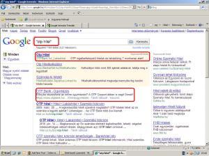 google otp hitel szó keresés és adwords