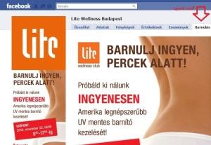 facebook egyedi oldal