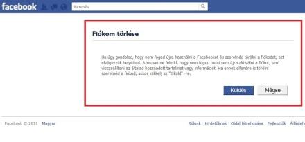 facebook torles