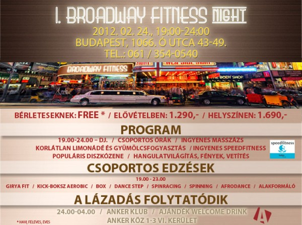 Fitness night a Broadway Fitness Wellness-ben