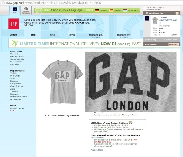 gap london - szinte loránd online marketing tanbácsadó