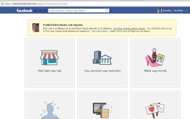 személyes facebook -ból rajongói oldalt