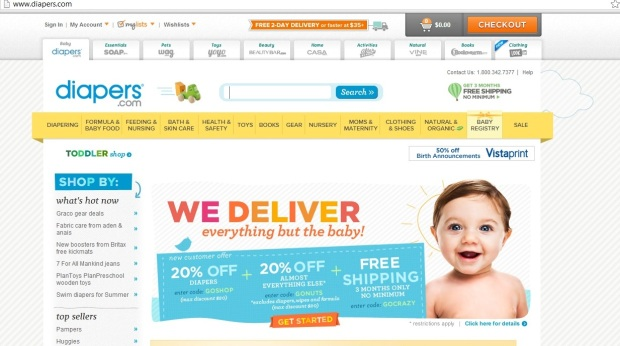 diapers webshop