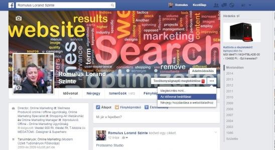 facebook idővonal