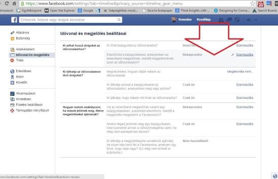 tevekenysegi naplo facebook