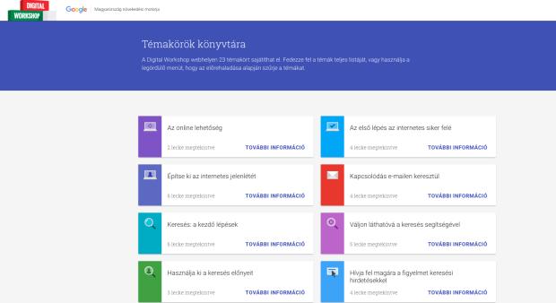 Google témakörök oktatásra
